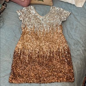 Maner sequin ombré cocktail dress